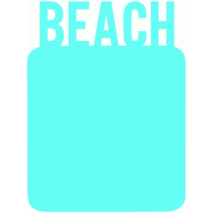 beach 3x4 journaling card