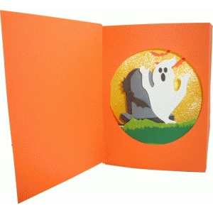 halloween diorama card - ghost