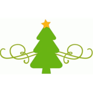 christmas tree flourish