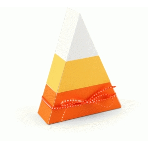 3d halloween candy corn treat box
