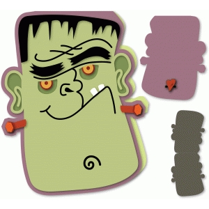 frankenstein head 5x7 card
