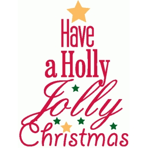 holly jolly christmas word tree