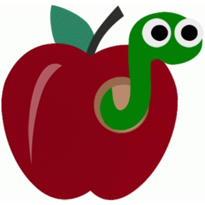apple with worm school