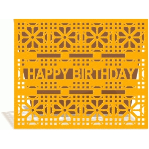 ornate happy birthday card