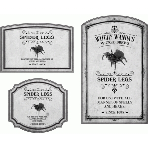 potion label spider legs