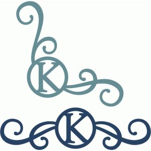 monogram seal flourishes k
