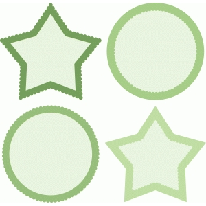 circle and star scalloped frames