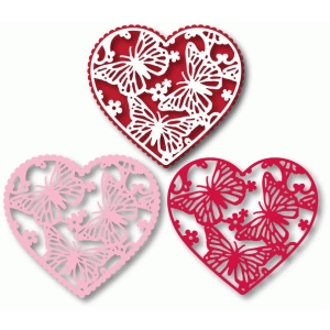 heart doily variations