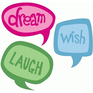 pnc dream laugh wish speech bubbles
