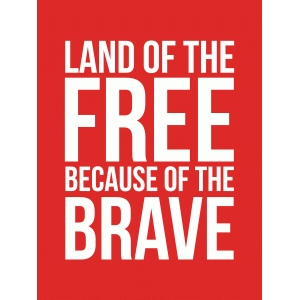 land of the free 3x4 quote card