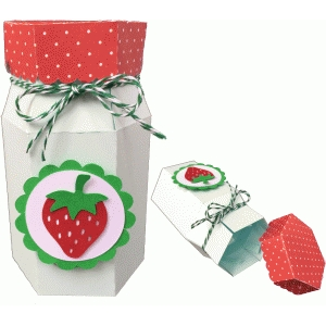 mason jar strawberry box
