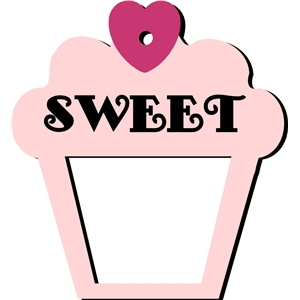 sweet cupcake frame / tag / single cut
