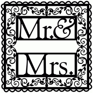 wrought iron vine mr. & mrs.