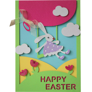 5x7 happy easter layer card
