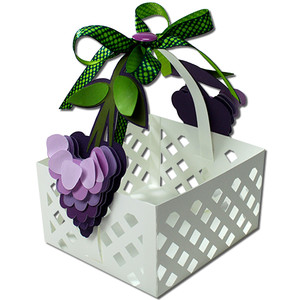wisteria lattice basket