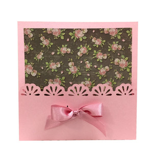 lace flower card