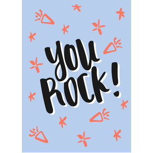 you rock! - flat card