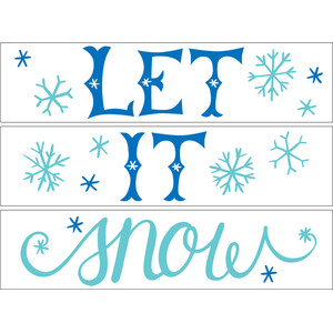 let it snow lightbox words