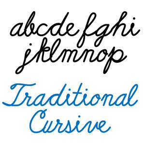 ld traditional cursive