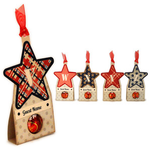 stars vwxyz candy place cards