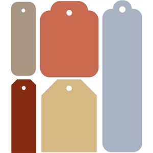 5 piece gift tag set