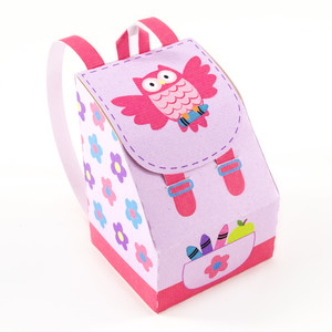 owl backpack favor bag