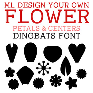 ml design your own flower: petals & centers dingbats