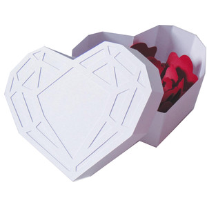diamond gem heart box
