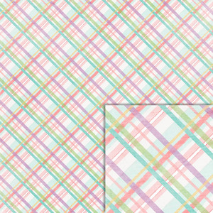 easter plaid background paper