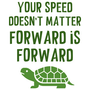 your speed doesn't matter forward is forward quote