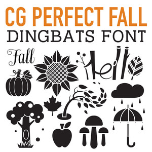 cg perfect fall dingbats