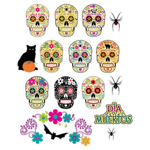 sugar skulls planner stickers