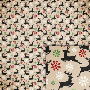christmas reindeer background paper