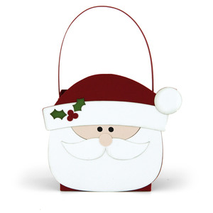 santa shaped bag
