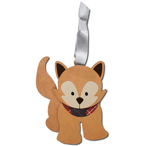 winter fox gift tag ornament