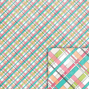 birthday plaid background paper