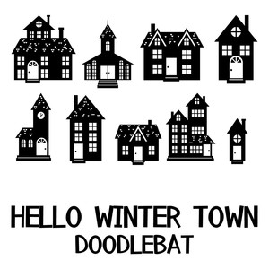 hello winter town doodlebat