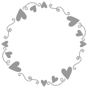 heart swirly frame