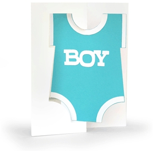 3d flip swing card boy onesie