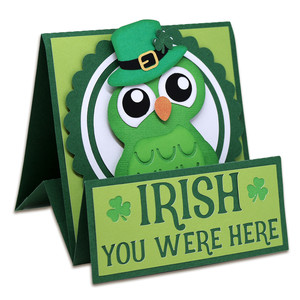 irish you were here tent card