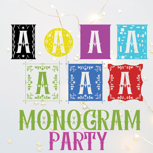 monogram party font family