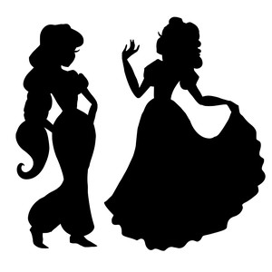 more princess silhouettes