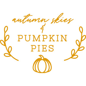 autumn skies & pumpkin pies