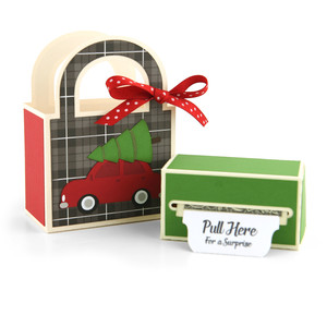 money roll gift bag set christmas tree