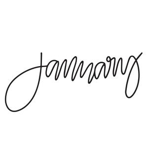 hand lettered january