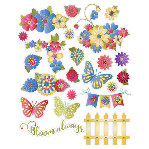 flower planning stickers