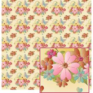 romantic colored flower pattern