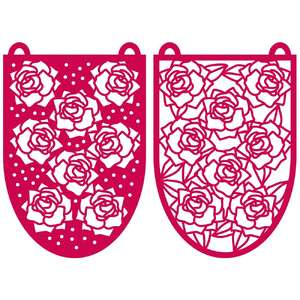 fresh roses bunting flags