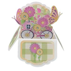 5x7 springtime popup card in a box