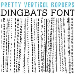 cg pretty vertical borders dingbats